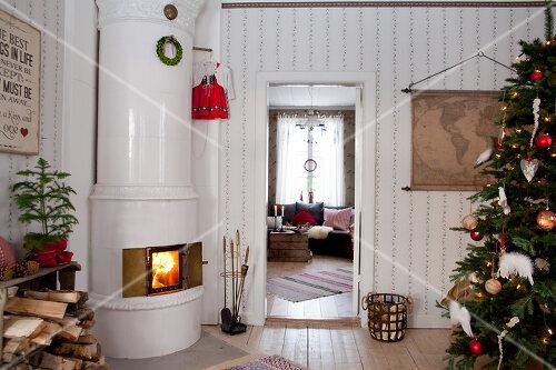 Nostalgic house in Kvarnsvedjan, a small village outside Umeå, North Sweden