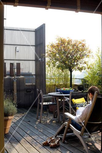 Rooftop garden in Antwerp, Belgium