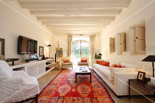 orientteppich wohnzimmer raum haus mit interessanten ideen deko ideen