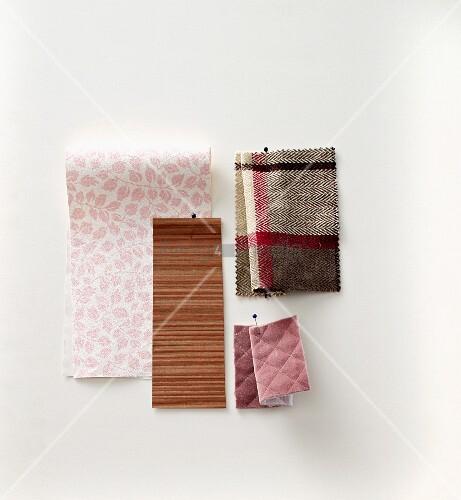 verschiedene stoffmuster f r bez ge gebl mt und kariert. Black Bedroom Furniture Sets. Home Design Ideas
