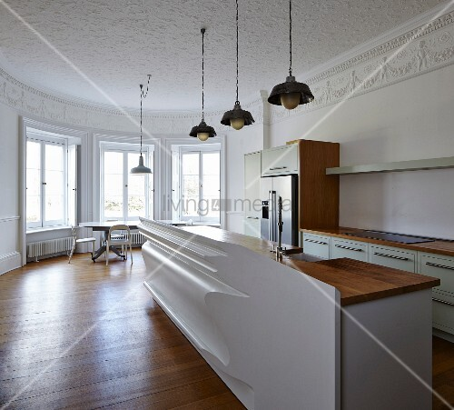 Küche Altbau minimalistische moderne küche mit künstlerischer front im altbau mit