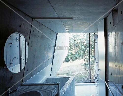 Badezimmer Tapete Streichen : Badezimmer: Wandfarbe beton wie kann man eine betonwand streichen