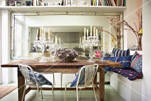 spiegel esszimmer tisch. Black Bedroom Furniture Sets. Home Design Ideas