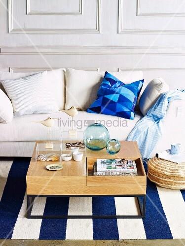 Maritimer Teppich teppich blau wei amazing moderne teppiche mit mustern moderne