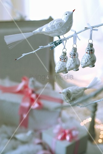 Christmas Tree Decorations Bird : Bird shaped christmas tree decorations living media