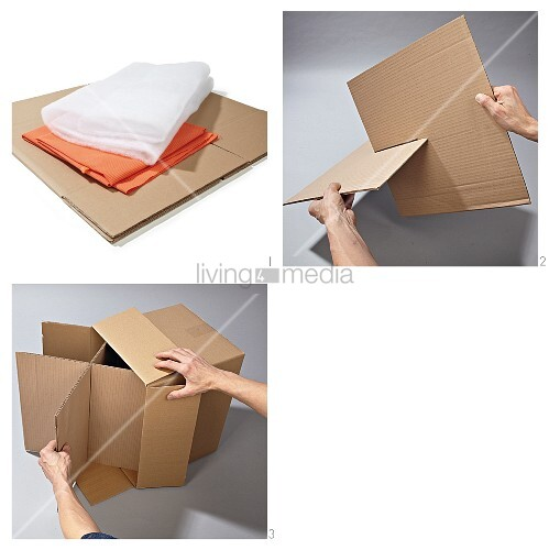 Instructions for making a cardboard stool