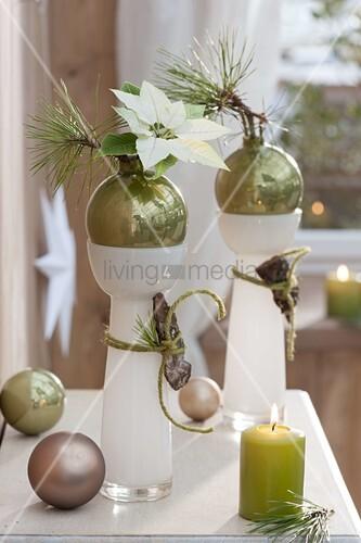 Moderne weihnachts dekoration bild kaufen living4media - Moderne dekoration ...