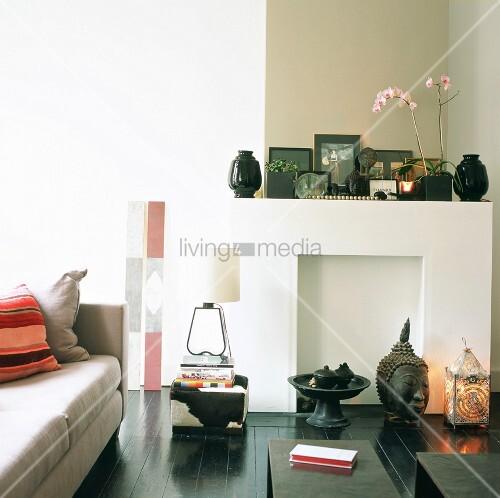 Wohnraum mit asiatischer deko auf dem schwarz lackierten for Wohnraum deko