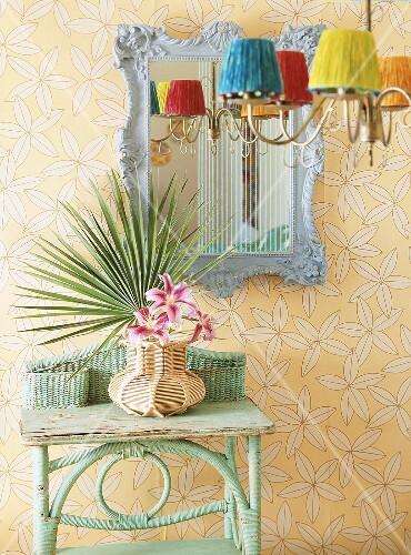 wandtisch und spiegel bild kaufen living4media. Black Bedroom Furniture Sets. Home Design Ideas