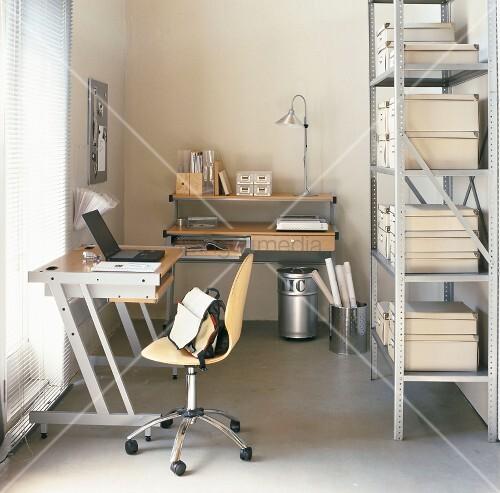ein b ro bild kaufen living4media. Black Bedroom Furniture Sets. Home Design Ideas