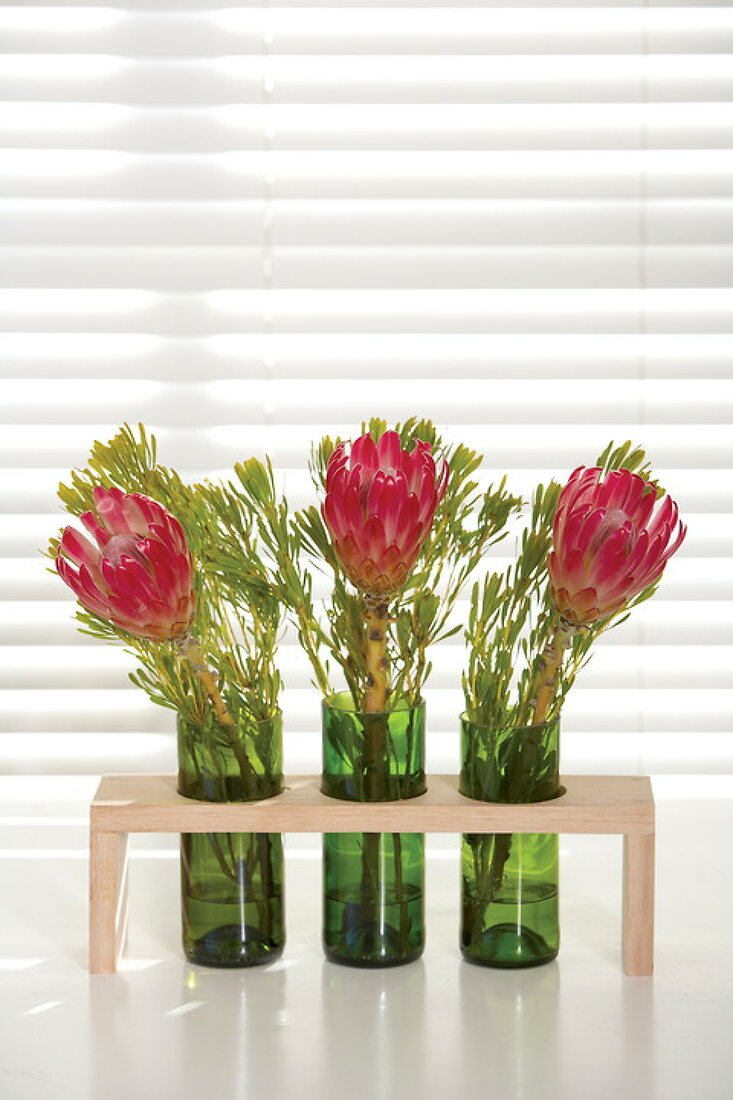 Florales Flaschenrecycling