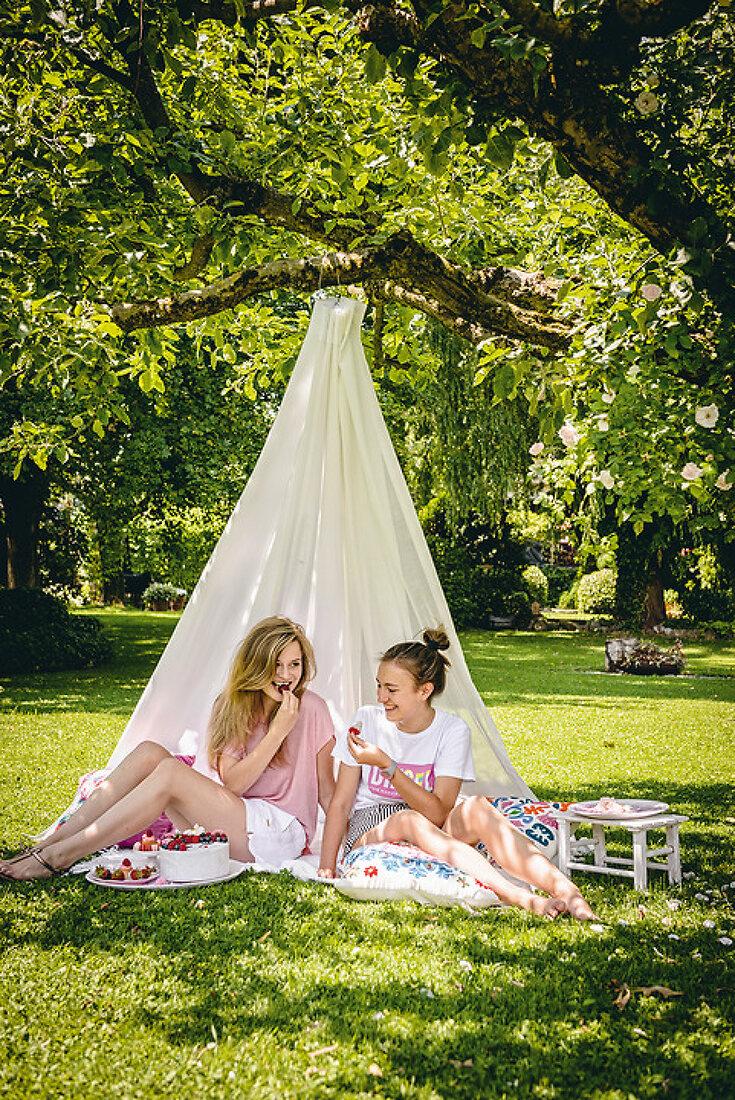 Mädchen-Picknick