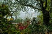 Romance in a fall garden