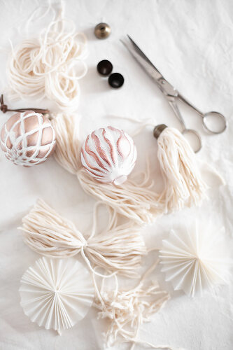 Christmas Decorations in White