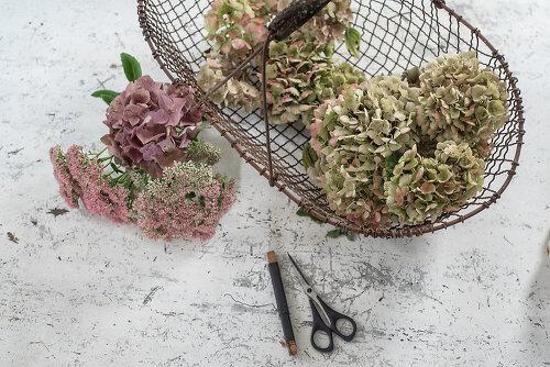 Blumen mit Patina
