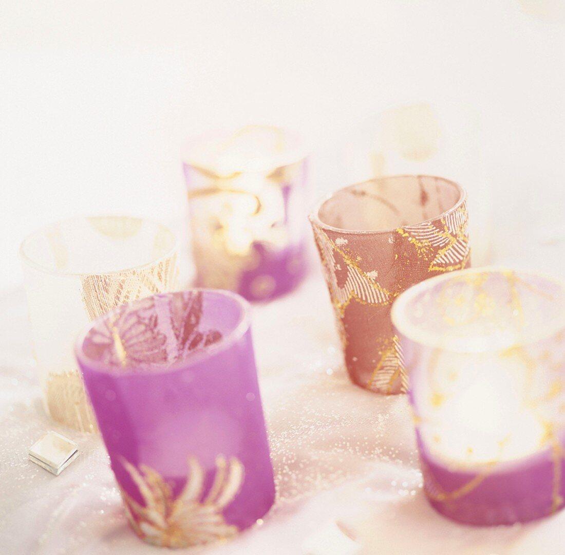 Tea lights in glasses