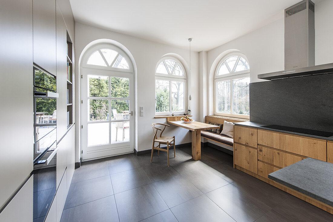 kitchen of a modern one family villa in Hamburg, north Germany, Germany