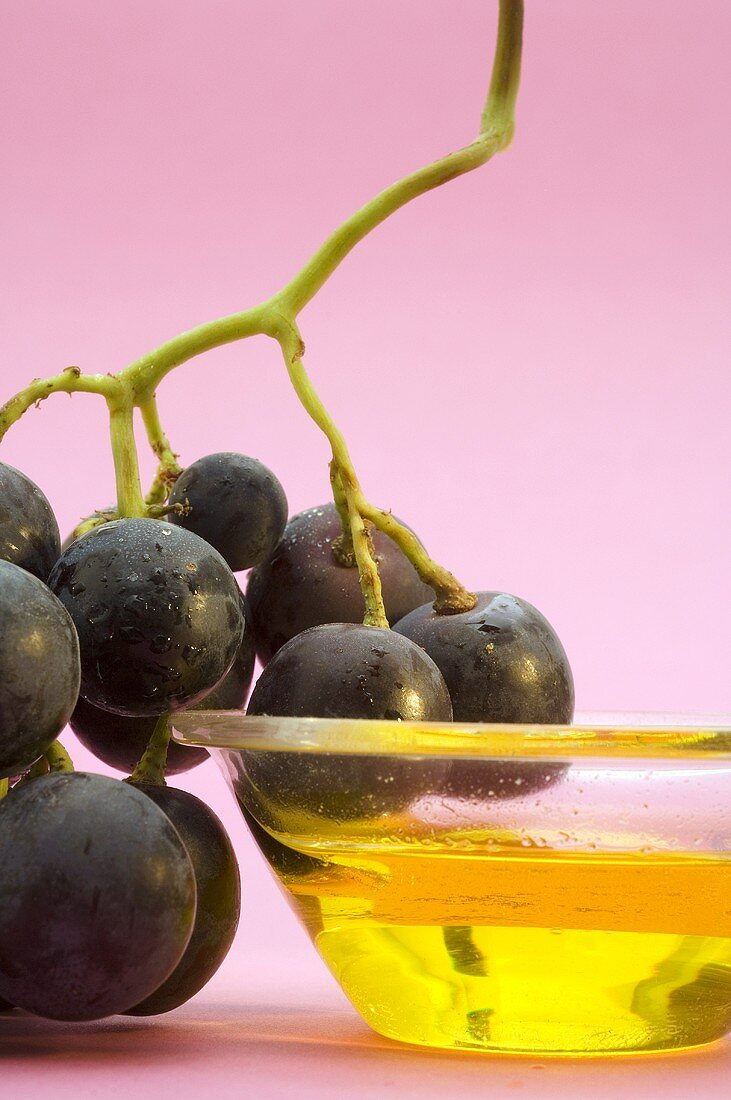 Red grapes and grape seed oil