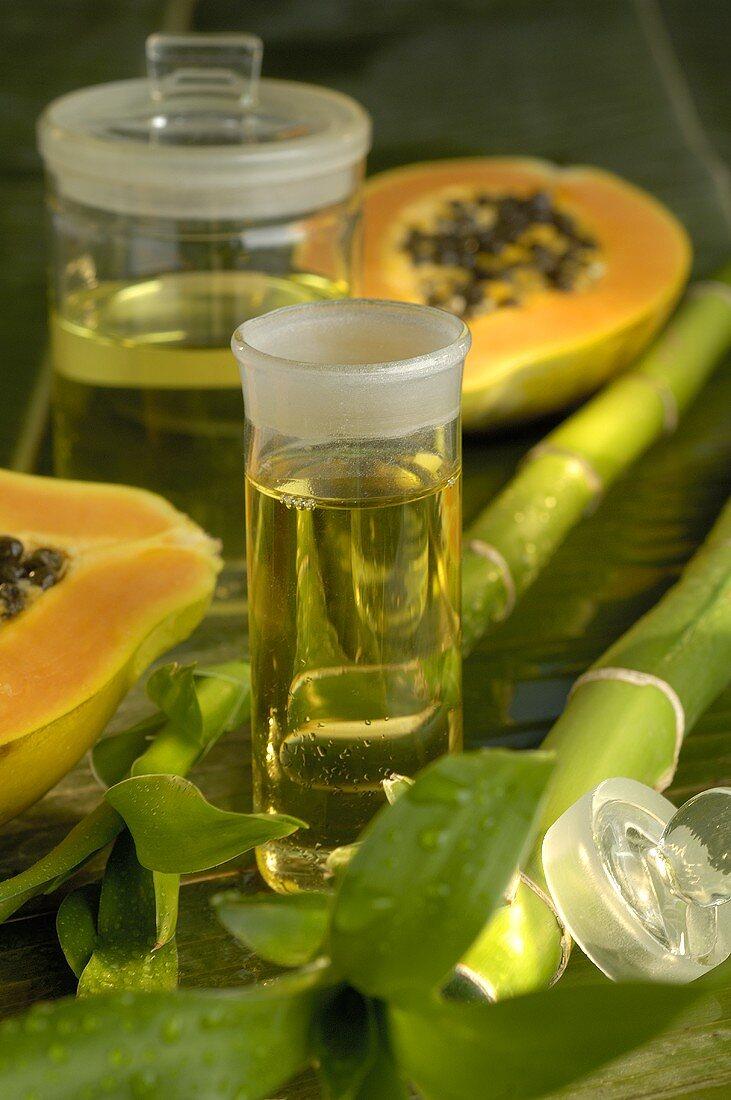 Papaya and beauty care oil