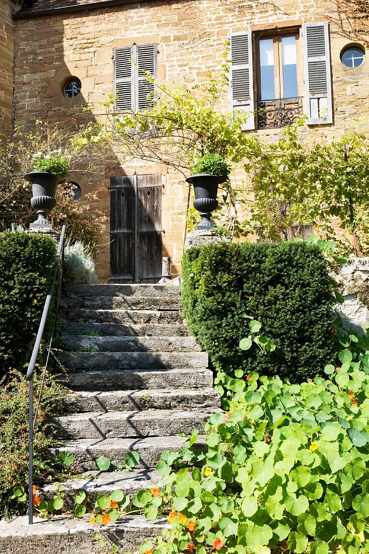 A typical house in Arbois, Franche-Comté, France