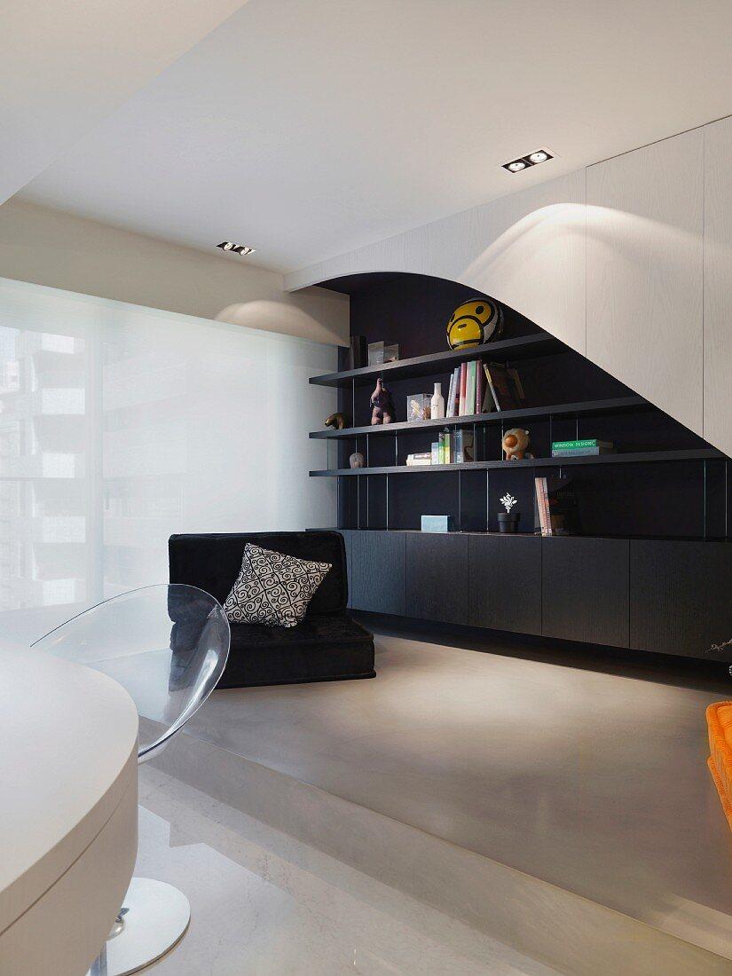 Modern Living Room Black Low Armchair Buy Image 11100642 Living4media