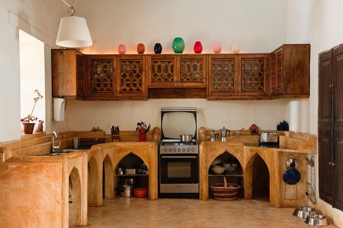 Indische Kuche Gemauerte Kuchenzeile Bild Kaufen 11128746 Living4media
