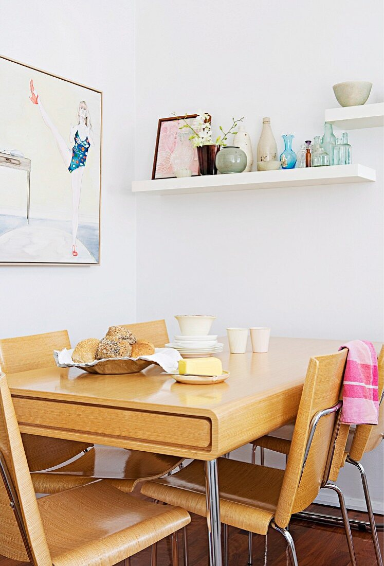 Dining Area With Pale Laminated Timber Buy Image 11130548 Living4media