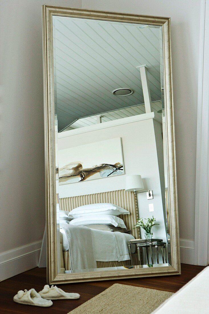 Full Length Silver Framed Mirror In Buy Image 11152236 Living4media