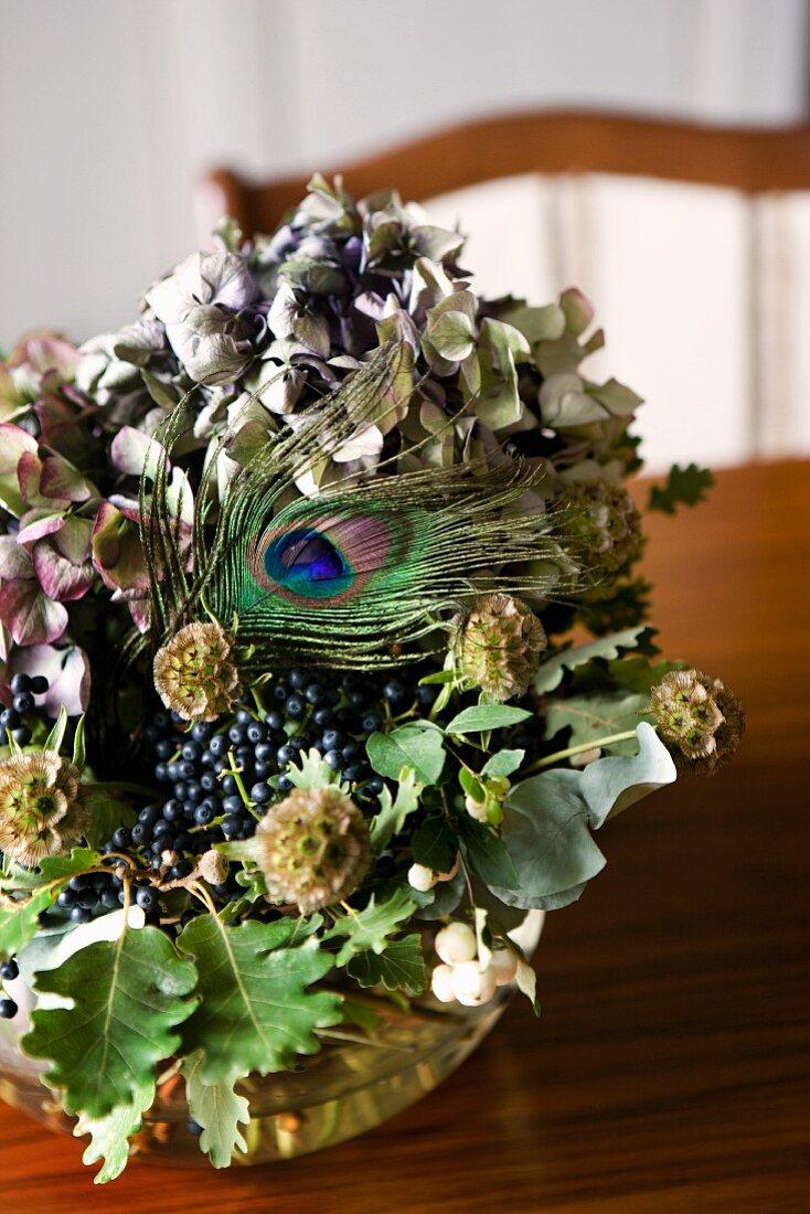 Dried Flower Arrangement With Hydrangea Buy Image 11156022 Living4media