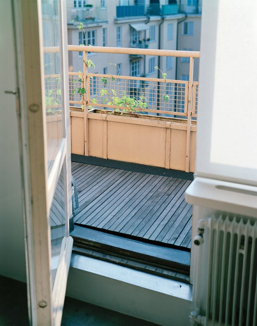 An Open Door by a Balcony.