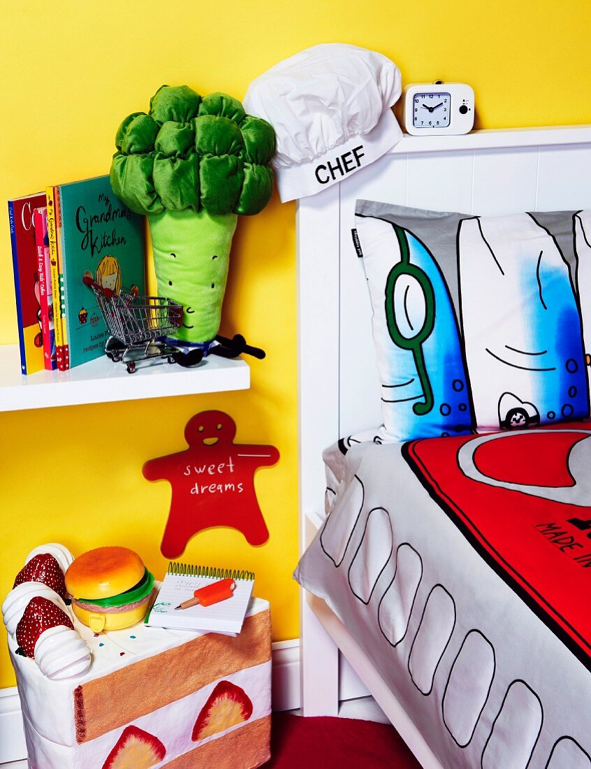 Child's room decorated for future chefs