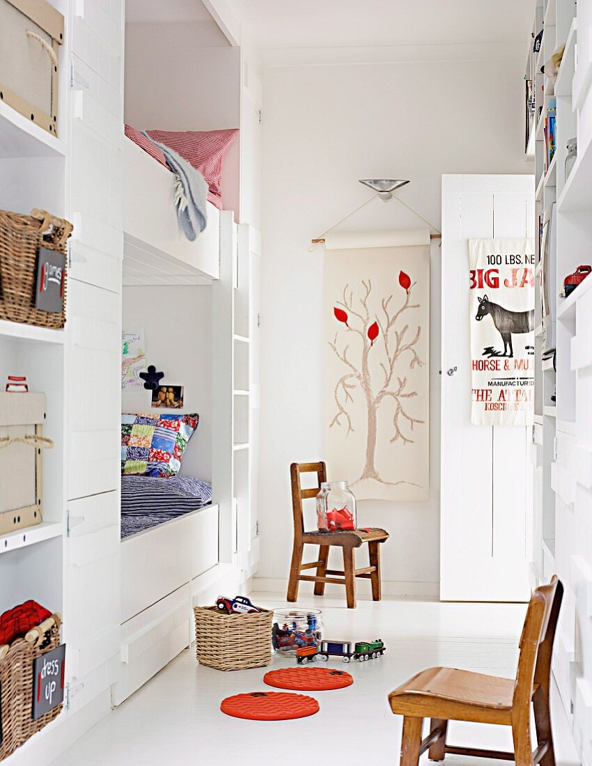 Picture of: Radiant White Child S Room With Built Buy Image 11242308 Living4media
