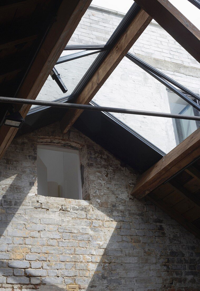 Wood & glass roof structure