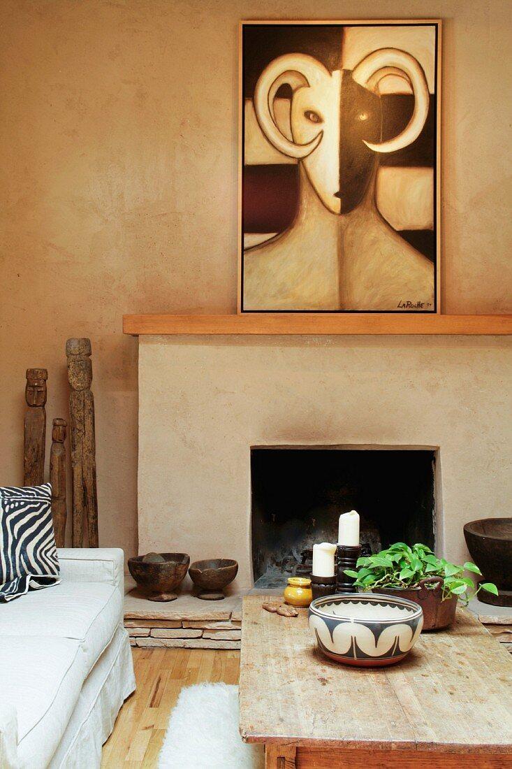 Southwest style living room
