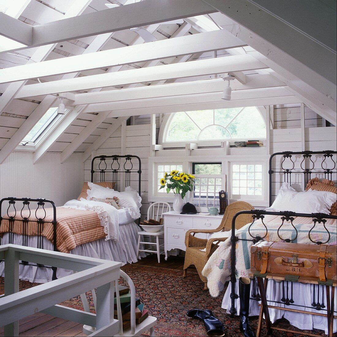 Picture of: Two Black Iron Beds And A Semi Circular Buy Image 11093646 Living4media