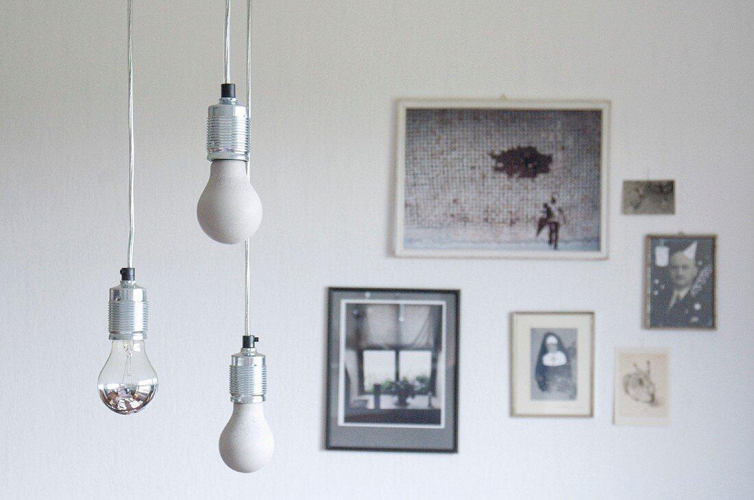 DIY concrete light-bulb ornaments