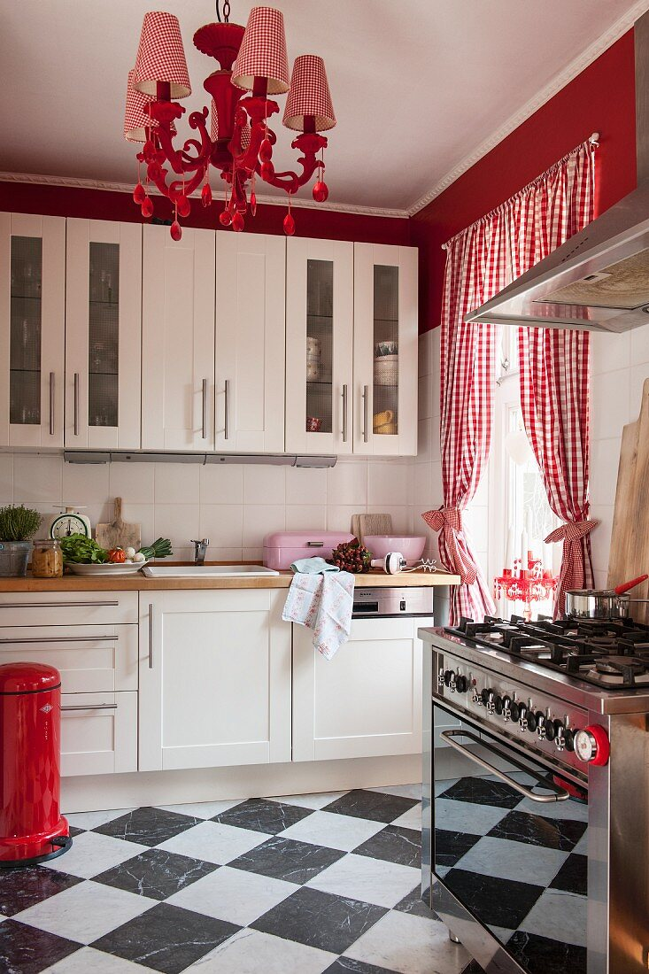 Chequered Floor Red And White Gingham Buy Image 11436834 Living4media