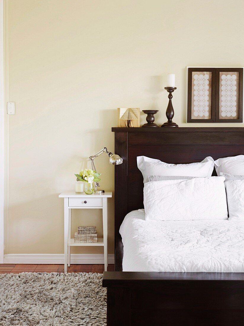 Filigree White Bedside Table Next To Buy Image 11505078 Living4media