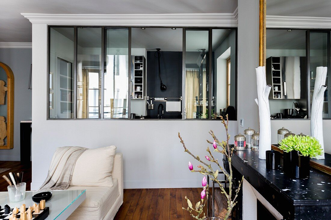 View from living room through glass … – Buy image – 20 ...