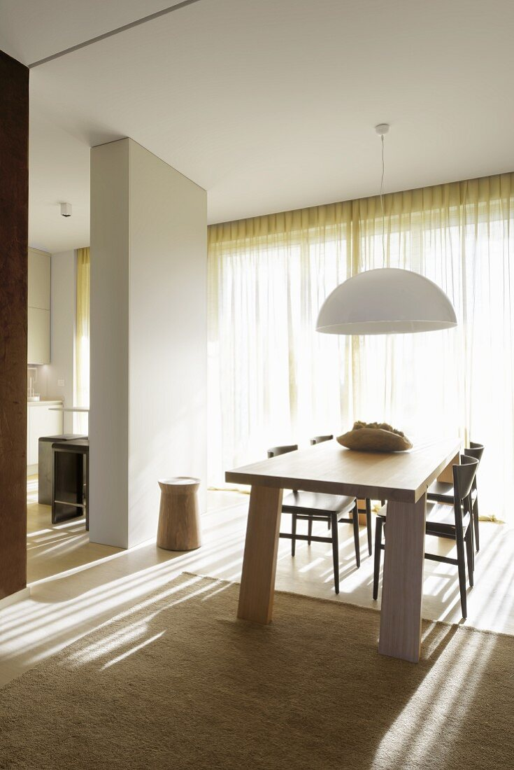 Picture of: Pendant Lamp With White Lampshade Above Buy Image 11306698 Living4media