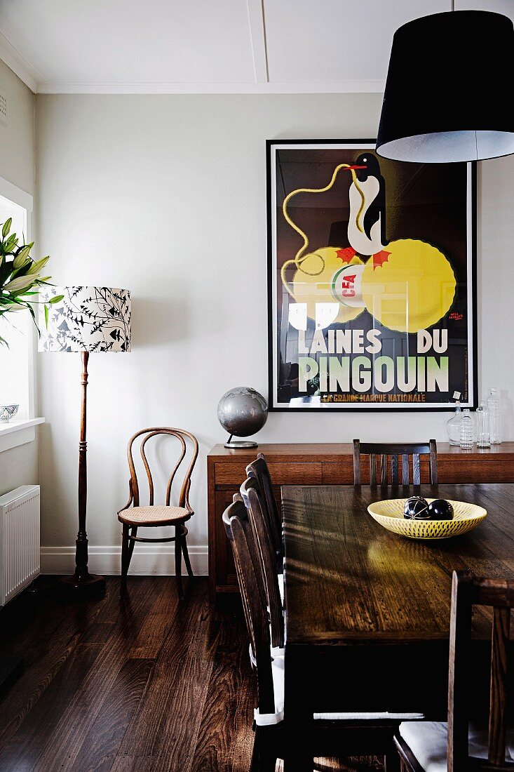 Dark Wooden Table And Chairs In Dining Buy Image 11359742 Living4media