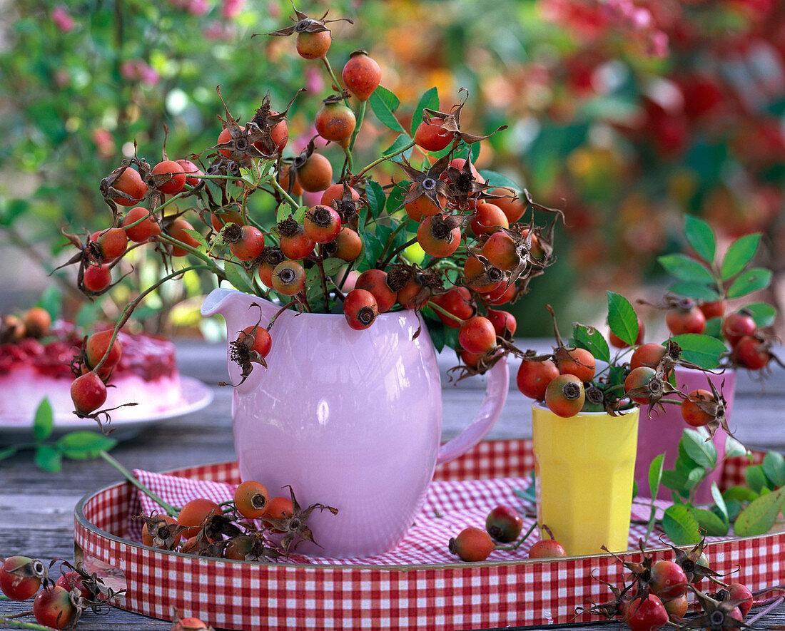 Bouquet of rosehips