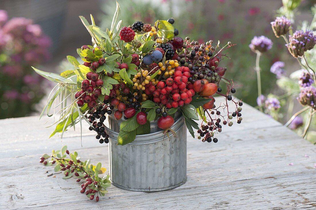 Bouquet of wild fruits