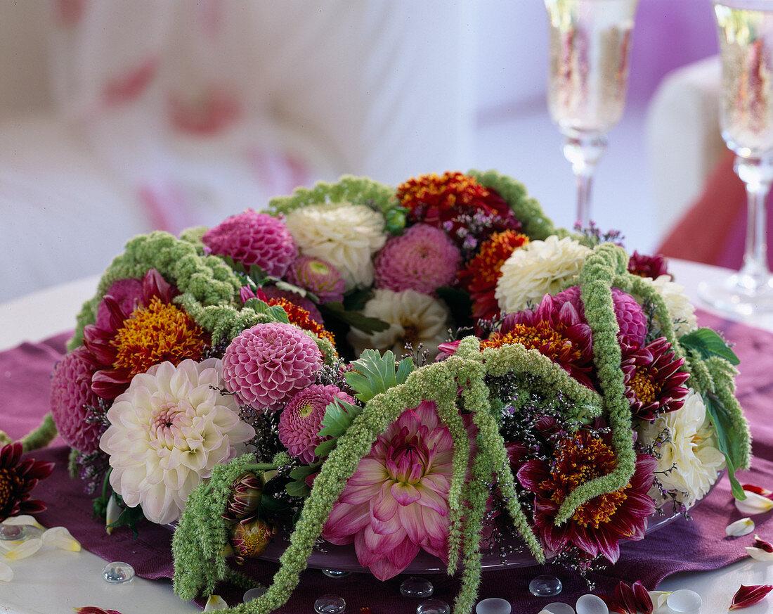 Wreath with Amaranthus