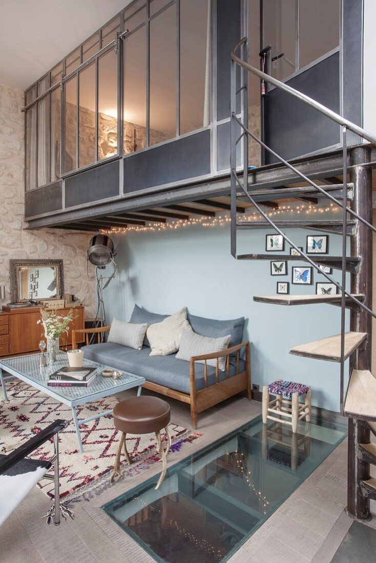 Picture of: Living Space In Industrial Loft Buy Image 12248064 Living4media