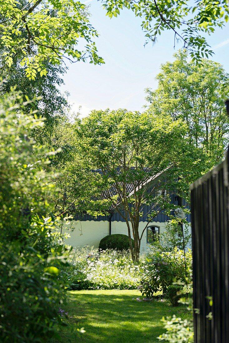 Country house in idyllic garden