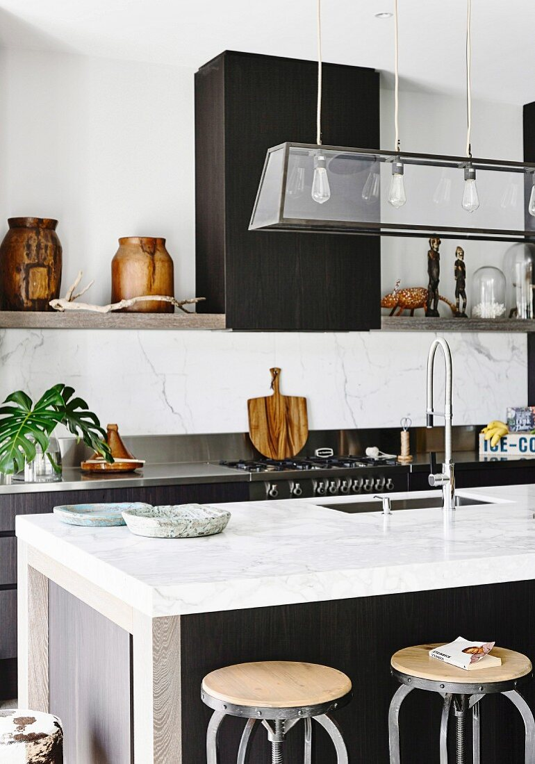 Modern kitchen between ethnic and industrial style