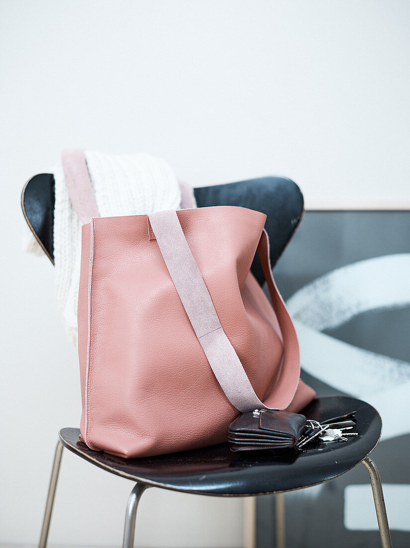 A homemade leather bag
