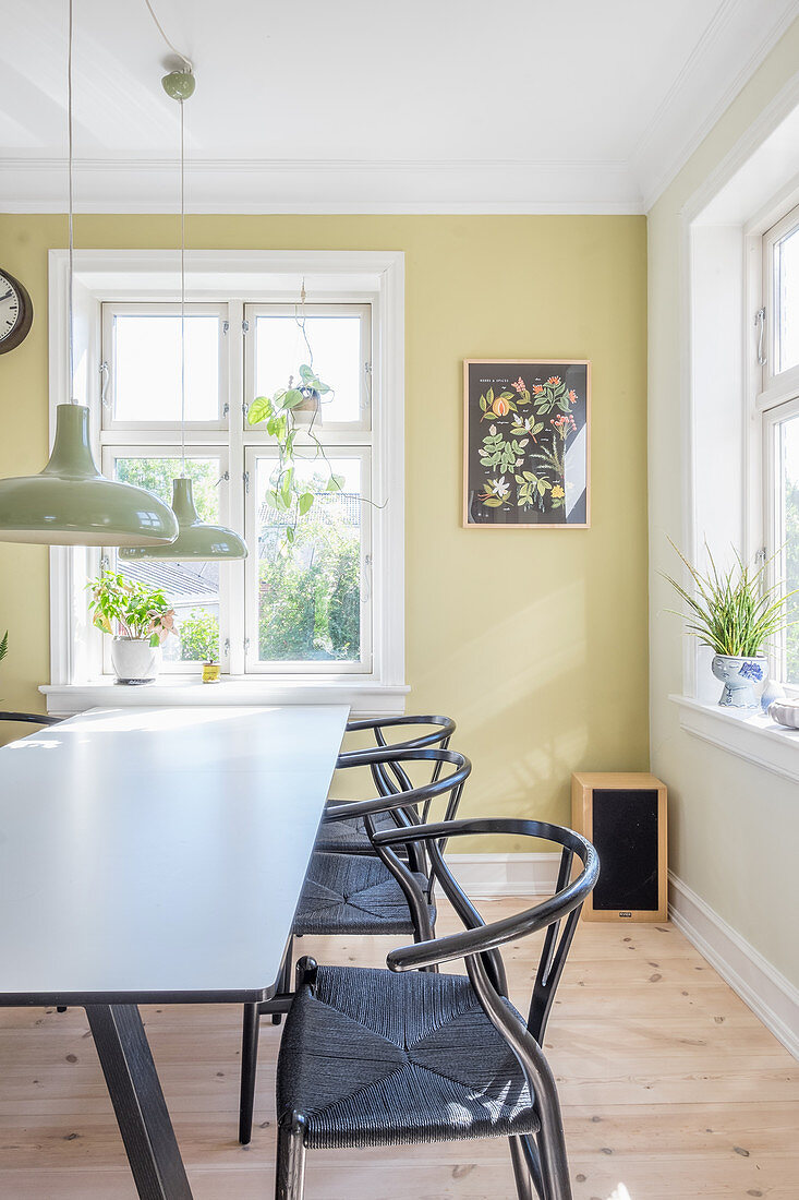 Lime Green Wall And Designer Chairs In Buy Image 12506680 Living4media
