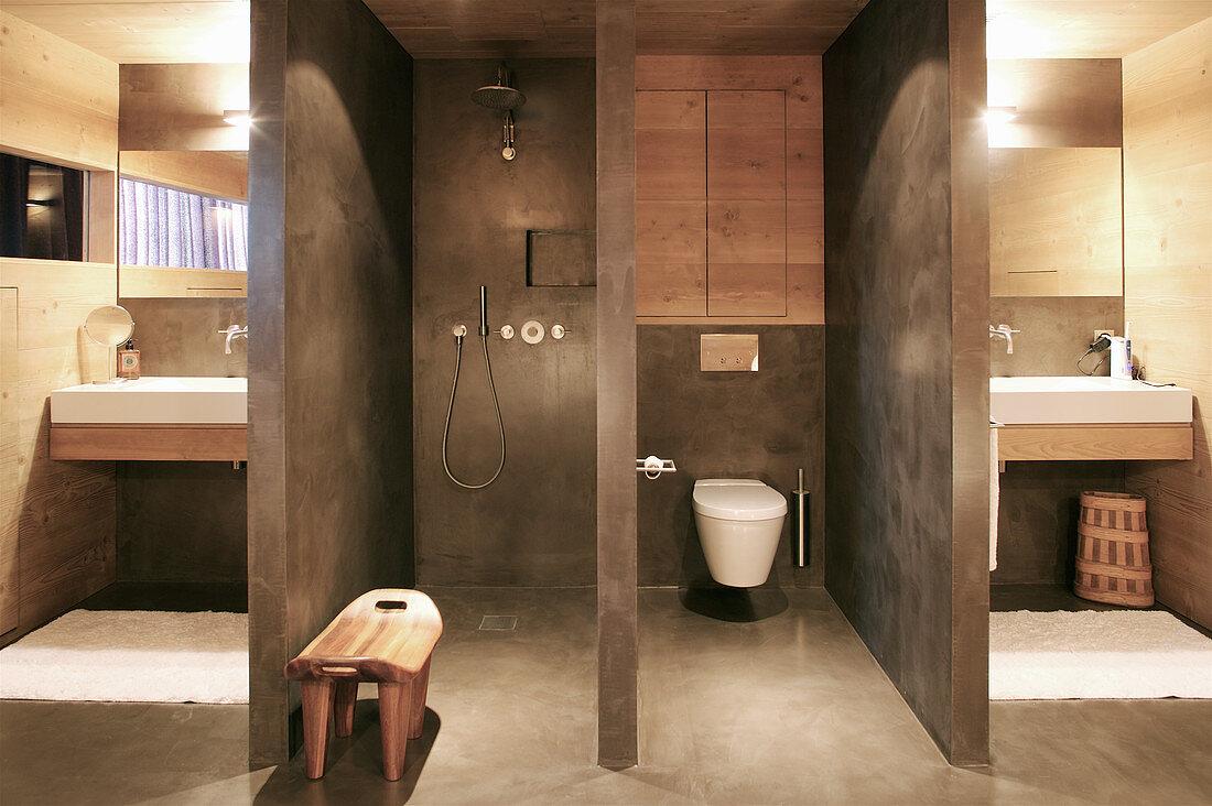 Designerbad Mit Abgetrennter Dusche Und Bild Kaufen 12507724 Living4media
